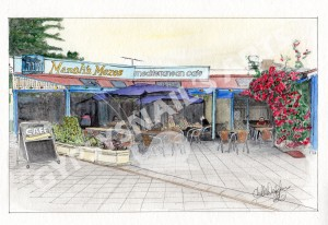 manolis mezes cafe watercoloured1