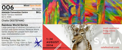 Chelle's art will be at Adelaide Convention Centre from 5th August to 24th August