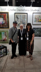 Me with 1973 Archibald Prize Winner Deaf artist Stefan Kater and famous well known Deaf artist Angie Goto