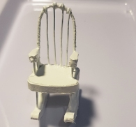 The rocking chair TRIAL version before making the real one with right materials