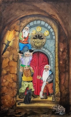 3 of Pentacles - Dwarves at Work!