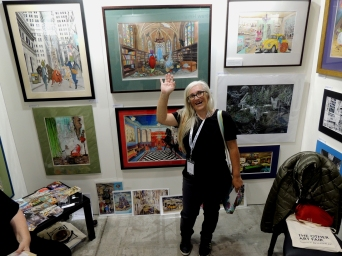 My booth at Sydney's The Other Art Fair