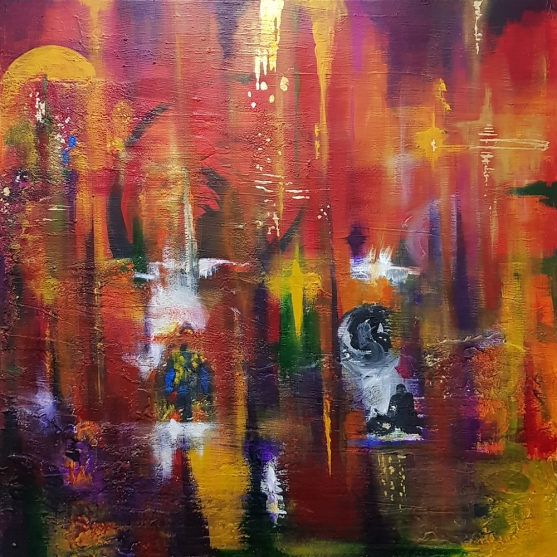 bushfires 2009 abstract 1st painting1bSmlSize
