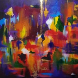bushfires 2009 abstract 3rd painting