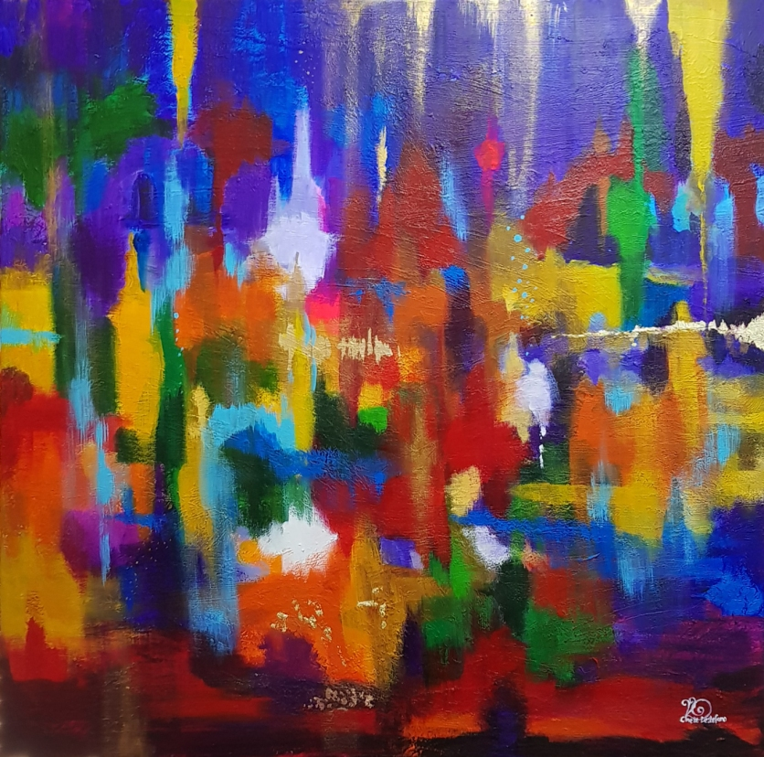 bushfires 2009 abstract 4th painting